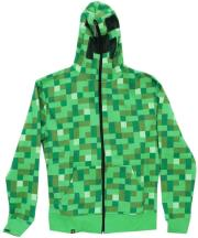 jinx minecraft creeper premium zip up hoodie s photo