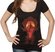 jinx wow horde silhouette women s scoop tee m photo