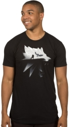 jinx witcher wolf silhouette tee s photo