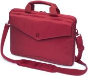 dicotacode slim carry case 150 stylish and slim notebook case with tablet pocket red photo