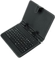 blun book case universal with keyboard with micro mini usb for tablet 7 black photo