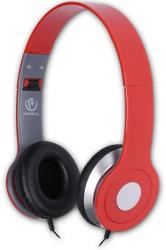 rebeltec city stereo headphones with mic red photo