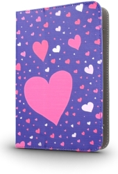 GREENGO UNIVERSAL CASE HEARTS FOR TABLET 7-8""