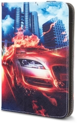 GREENGO UNIVERSAL CASE BURNING CAR FOR TABLET 7-8""