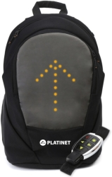 platinet pto156led led biker s laptop backpack 156 with led light photo