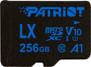 patriot psf256glx11mcx lx series 256gb micro sdxc v10 a1 class 10 with sd adapter