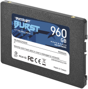 ssd patriot pbu960gs25ssdr burst 960gb 25 sata 3