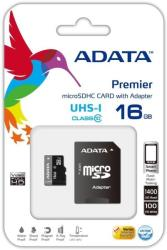 adata premier 16gb micro sdhc uhs i class 10 with adapter photo