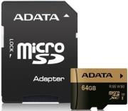 adata xpg 64gb micro sdxc uhs i u3 class 10 with adapter photo
