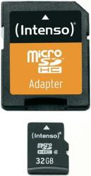 INTENSO MICRO SDHC 32GB + ADAPTER CL4 BLISTER