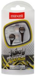 maxell juicy tunes earphones silver photo