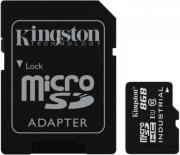 kingston sdcit 8gb 8gb industrial micro sdhc uhs i class 10 with sd adapter photo