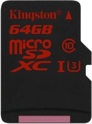 kingston sdca3 64gbsp 64gb micro sdxc uhs i u3 class 3 photo