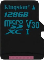 kingston sdcg2 128gbsp canvas go 128gb micro sdxc class 10 uhs i u3 v30 photo