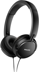 philips shl5000 00 on ear flat folding headphones black photo