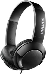 philips shl3070bl 00 bass on ear flat folding headphones black photo