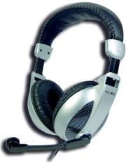nilox headset full size black silver photo