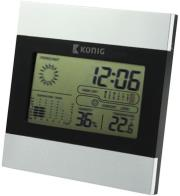 konig kn ws102n lcd clock and weather station photo