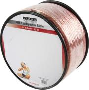 konig kn lsp05r 25 ofc speaker cable on reel 2x 400mm 25m transparent photo