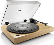 lenco l 91 wooden turntable with usb connection photo