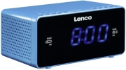lenco cr 520 stereo clock radio with 12 blue display and usb charger blue photo