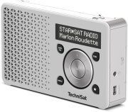technisat digitradio 1 portable dab fm radio with built in rechargeable battery white silver photo