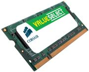 RAM CORSAIR CM3X2GSD1066 2GB SO-DIMM DDR3 VALUE SELECT PC3-8500