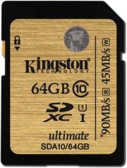 kingston sda10 64gb 64gb sdxc class 10 uhs i ultimate flash card photo