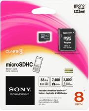 sony sr8a4 8gb micro sdhc class 4 adapter photo