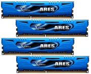 ram gskill f3 1600c9q 16gab 16gb 4x4gb ddr3 pc3 12800 1600mhz ares quad channel kit photo