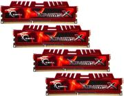 ram gskill f3 12800cl9q 8gbxl 8gb 4x2gb ddr3 pc3 12800 1600mhz ripjawsx quad channel kit photo