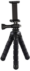 hama 04609 flex mini tripod for smartphone and gopro 14 cm black photo