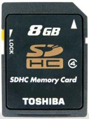 toshiba 8gb secure digital high capacity class 4 photo