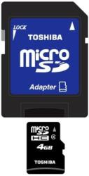 toshiba 4gb micro sd high capacity class 4 with adapter photo