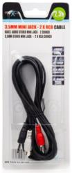 natec nka 0424 mini jack to 2xrca stereo cable 25m photo