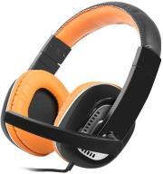 natec nsl 0712 kingfisher headphones with microphone orange photo