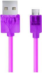 esperanza eb184v cable micro usb 20 a b m m 1m violet transparent photo