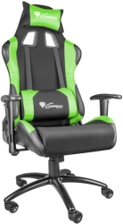 genesis nfg 0907 nitro 550 gaming chair black green photo