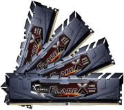 RAM G.SKILL F4-2400C15Q-64GFX 64GB (4X16GB) DDR4 2400MHZ FLARE X (FOR AMD) QUAD KIT