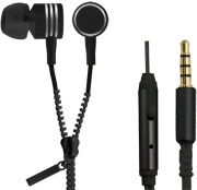 esperanza eh161k stereo eaprhones with microphone zipper black photo