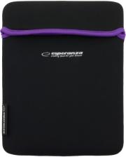 esperanza et173v neoprene bag for tablet 101 black violet photo