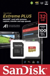 sandisk sdsqxbg 032g gn6ma extreme plus a1 32gb micro sdhc uhs i u3 with adapter photo
