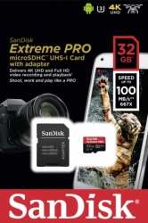 sandisk sdsqxcg 032g gn6ma extreme pro a1 32gb micro sdhc uhs i u3 with adapter photo