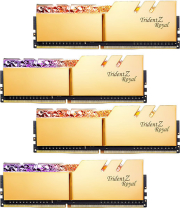 RAM G.SKILL F4-3600C16Q-32GTRGC 32GB (4X8GB) DDR4 3600MHZ TRIDENT Z ROYAL GOLD QUAD KIT