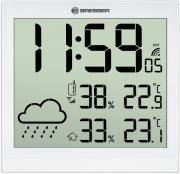 bresser temeotrend jc white lcd weather wall clock white 7005404 photo