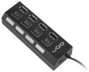 ugo uhu 1482 maipo hu110 4 port usb 20 hub with switch photo