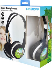 maxxter act mhp jr kids headphones with volume limiter black photo