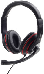 maxxter act mhs 003b gaming headset with volume control black red photo