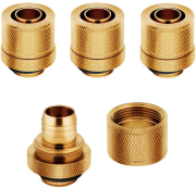 corsair hydro x fitting soft xf straight gold 4 pack 10 13mm compression photo
