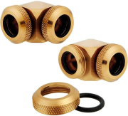 corsair hydro x fitting hard xf 90 angled gold 2 pack 12mm od compression photo